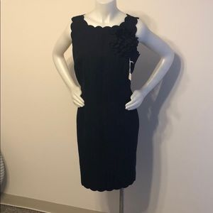 Beautiful Dark Blue embroidered sleeveless dress
